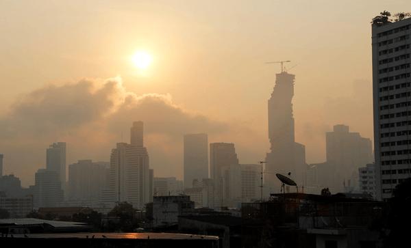 Bangkok Metropolitan area air quality index