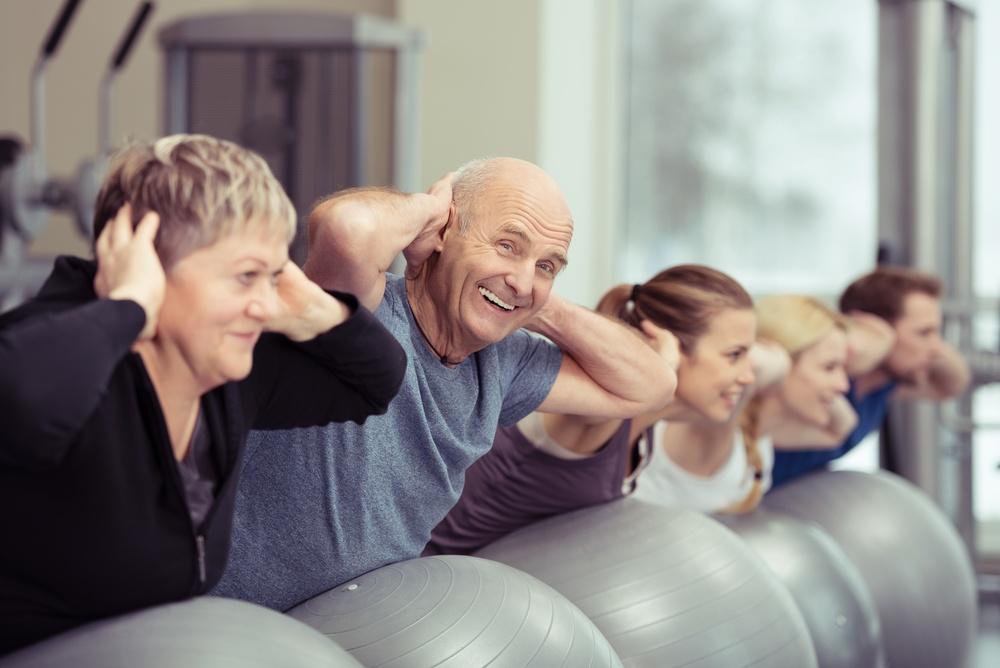 Elderly couple exercise to improve memory