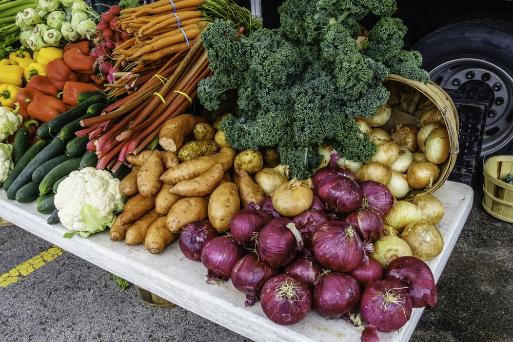 Variety of fresh vegetables to help improve memory