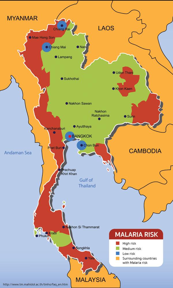 Malaria Map Thailand