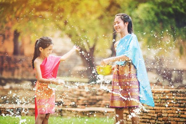 songkran festival water fight