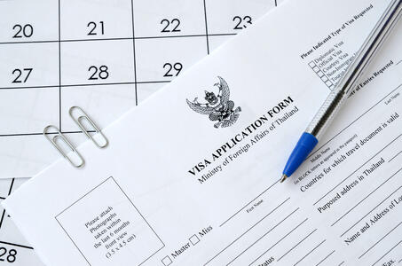 Visa application Thailand