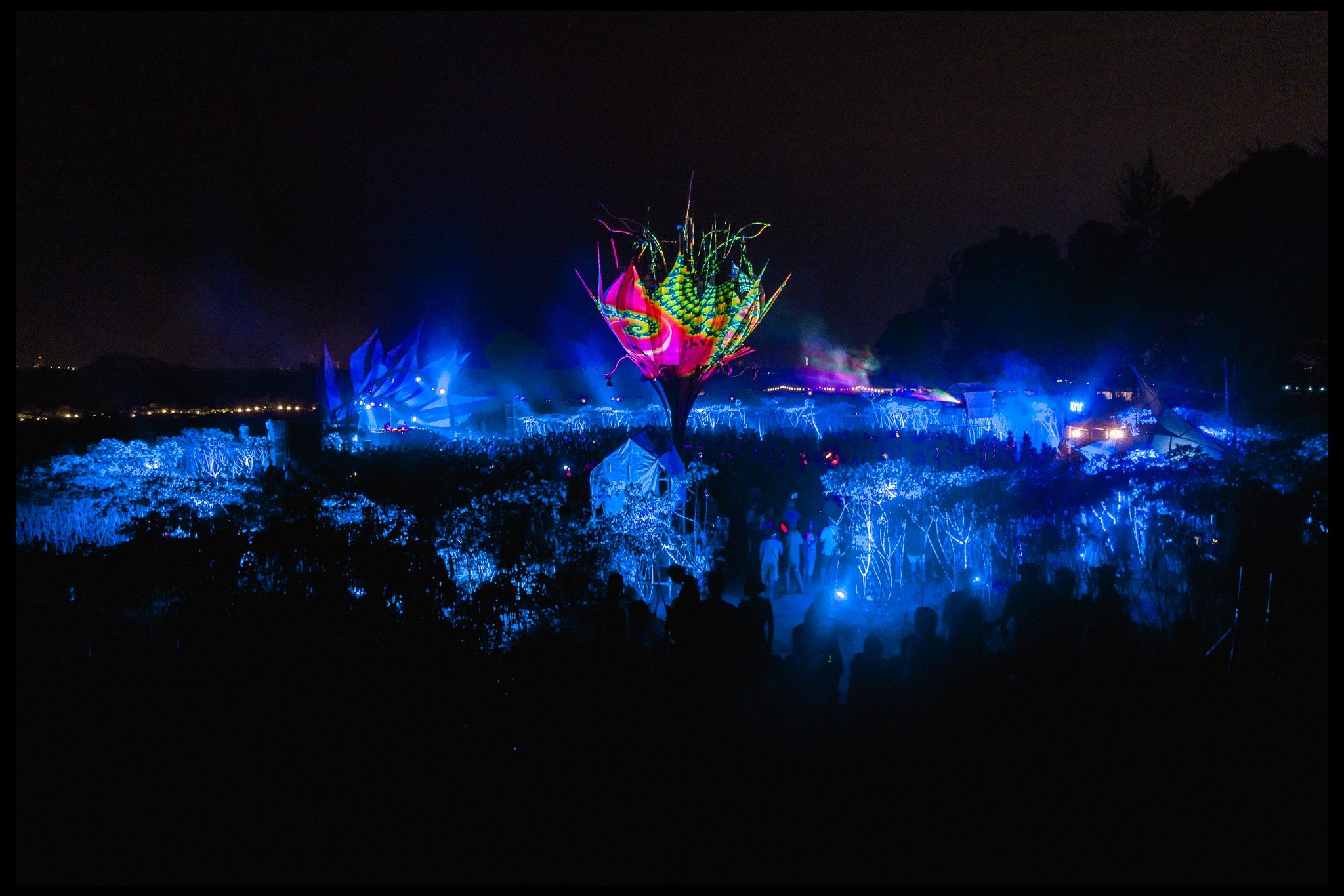 wonderfruit festival at night. Photo by wonderfruit